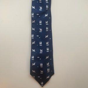 HERMES Pegasus pattern 100% silk tie
